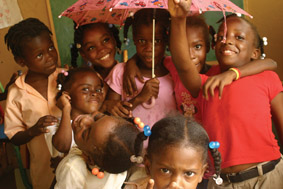 Haiti children benefiting from MUDHA education programme, Dominican Rep.