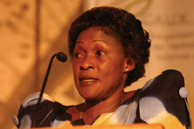 Betty Bigombe, principal negotiator between the Ugandan government and the Lord's Resistance Army