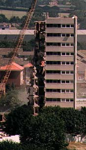 The old tower blocks come down