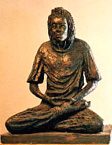 Sculpture of a meditating prisoner by Ron Farquhar who teaches meditation in Wandsworth Prison