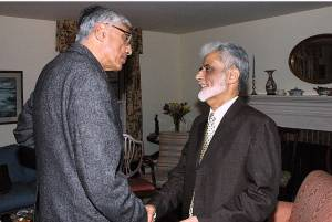 Rajmohan Gandhi with Sayyid Syeed, of the Islamic Society of North America