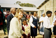 Welsh Education Minister Jane Davidson in  Lesotho