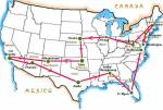 USA 'ACTION' route map