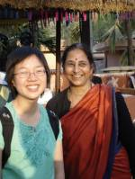 Vasantha Bharucha (r) and Lon Seng To